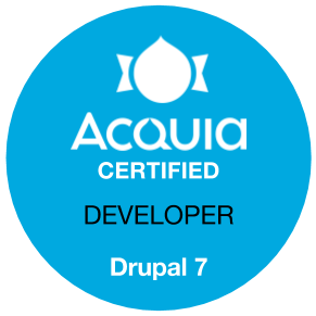 Aquia Certified Drupal Developer.